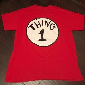 NWOT Dr. Seuss Thing 1 Large T-shirt Halloween
